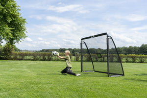 EXIT Coppa steel football goal 220x170cm - black