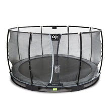 Load image into Gallery viewer, EXIT Elegant Premium ground trampoline ø366cm with Deluxe safety net