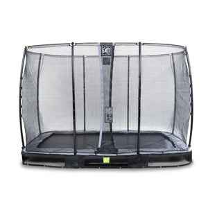 EXIT Elegant ground trampoline 244x427cm with Economy safety net
