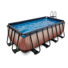 Load image into Gallery viewer, EXIT Wood pool 400x200x122cm, 540x250x122cm with filter pump - brown