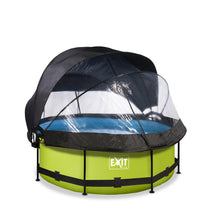 Load image into Gallery viewer, EXIT Lime pool ø244x76cm, ø300x76cm, ø360x76cm with dome, canopy and filter pump - green