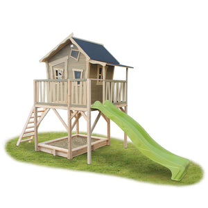 EXIT Crooky 750 wooden playhouse - grey-beige