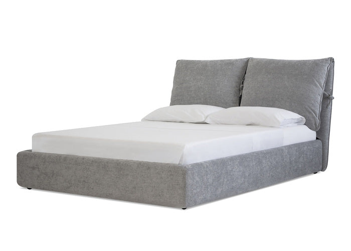 PLUME BED HEATHER GREY CHENILLE