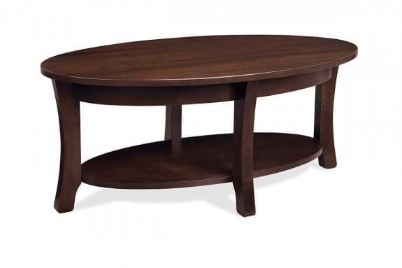 Yorkshire Oval Coffee Table with Shelf