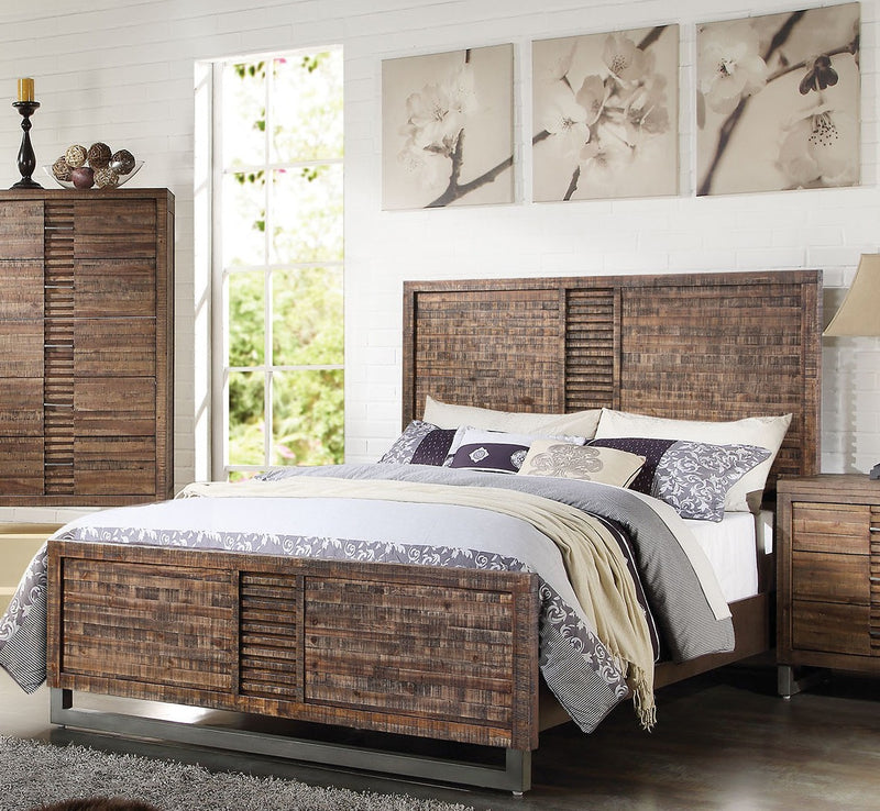 Acme Andria Queen Platform Bed in Reclaimed Oak 21290Q image