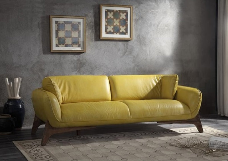 Acme Pesach Sofa in Mustard 55075 image