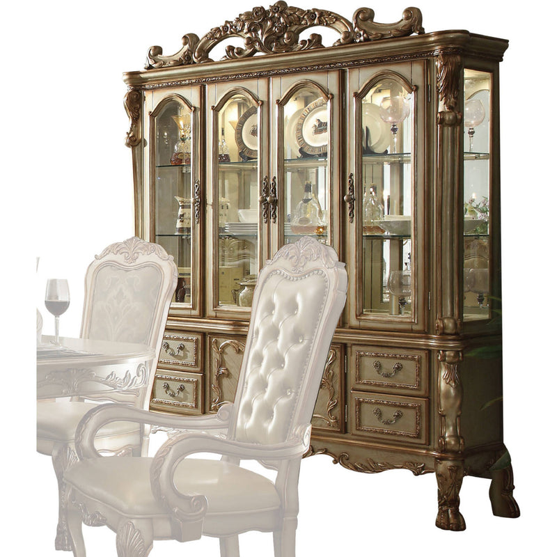 Acme Dresden Buffet w/ Hutch in Gold Patina 63155 image