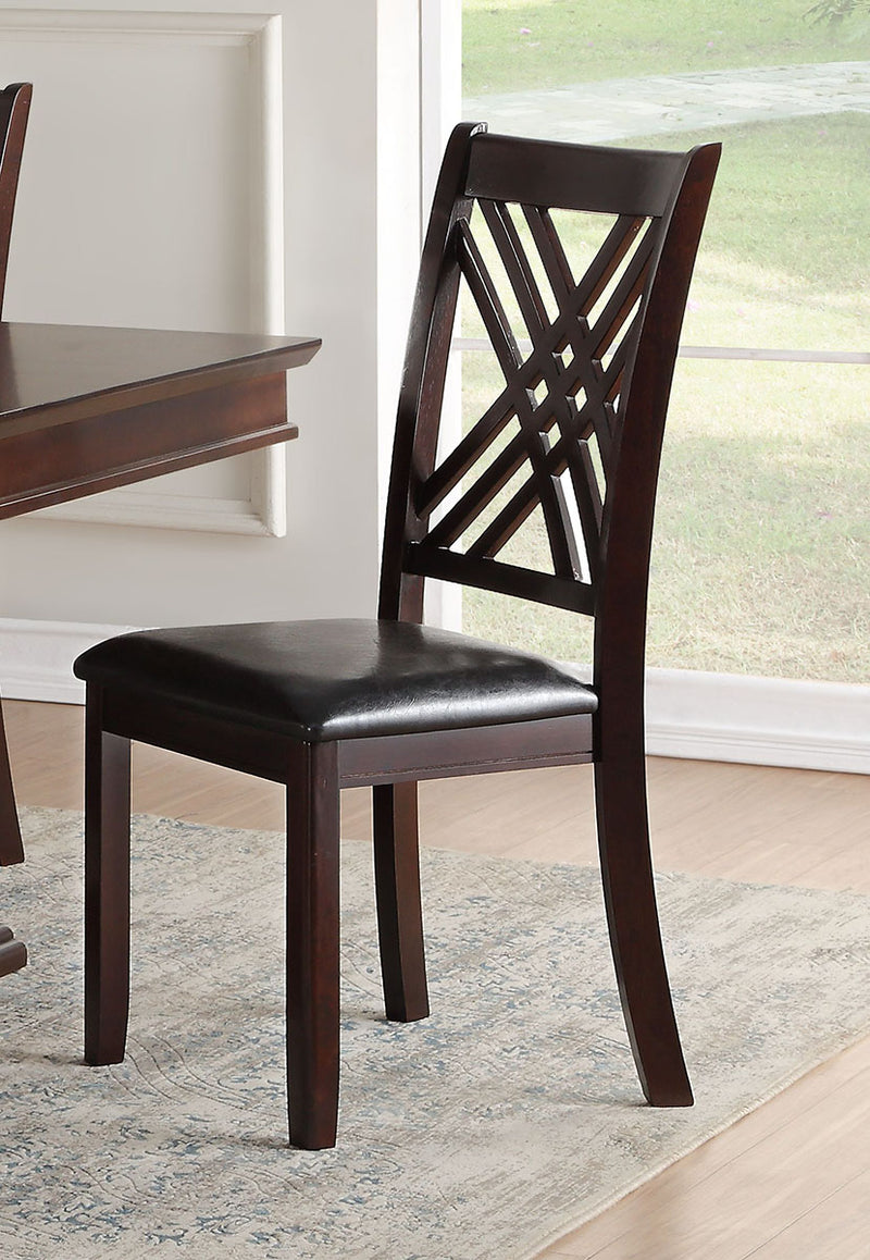 Acme Furniture Katrien Side Chair in Black and Espresso (Set of 2) 71857 image
