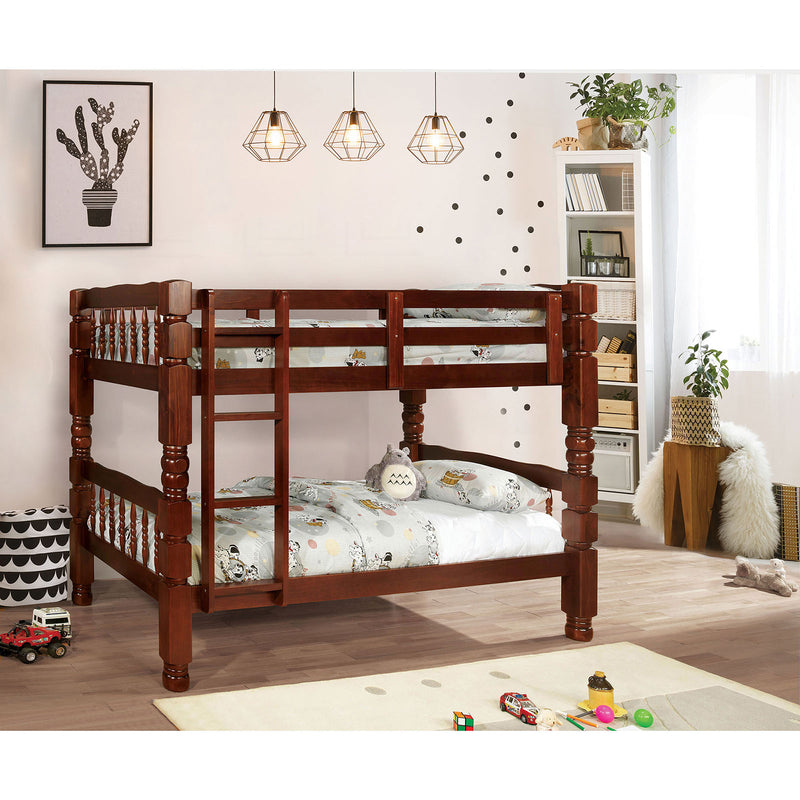 Carolina Cherry Twin/Twin Bunk Bed, Cherry