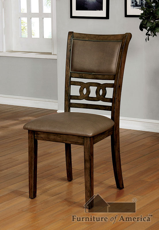 Holly Satin Walnut Side Chair (2/CTN)