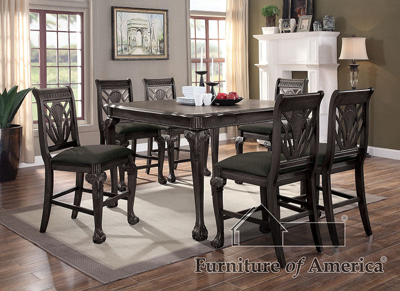Petersburg Dark Gray 7 Pc. Counter Ht Dining Table Set