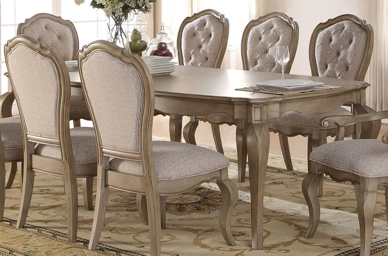 Acme Chelmsford Dining Table in Antique Taupe 66050 image