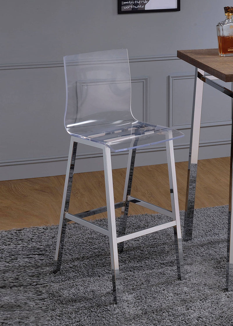 Acme Furniture Nadie Bar Chair in Chrome (Set of 2) 72597 image