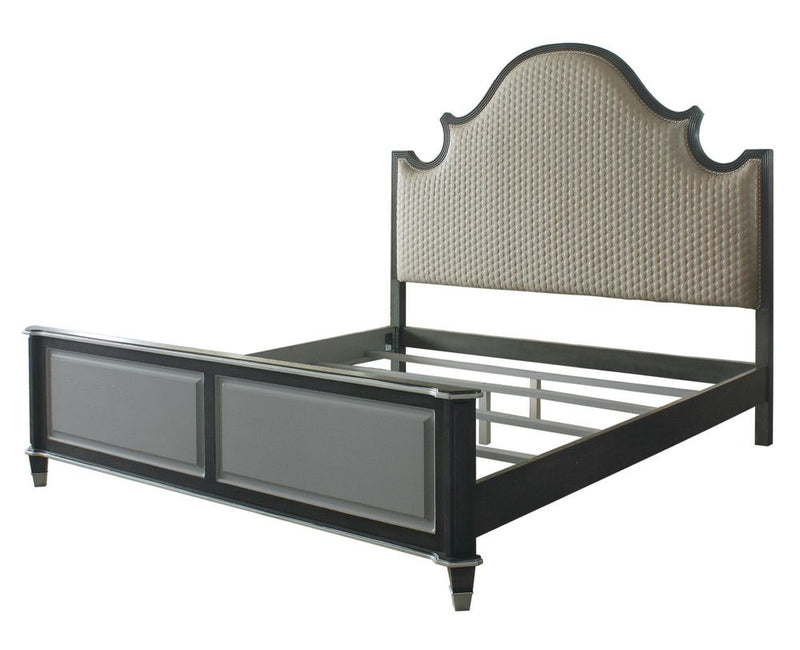 Acme Furniture House Beatrice California King Upholstered Panel Bed in Light Gray 28804CK image