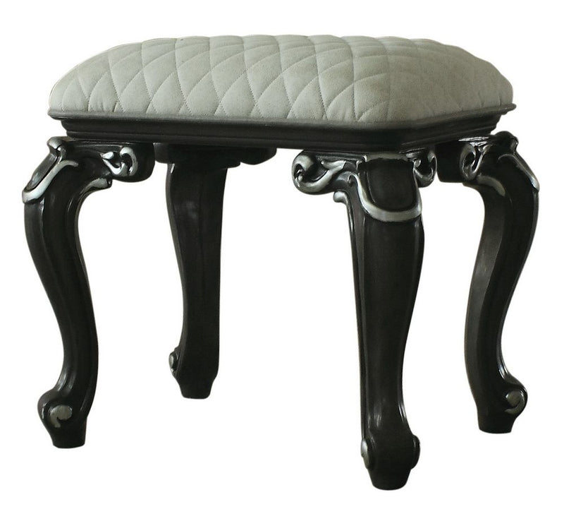 Acme Furniture House Delphine Vanity Stool in Charcoal 96885 image