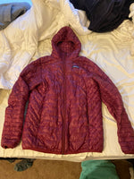 Patagonia Women's Micro Puff Hoody - Berry/Reddish Purple, size L