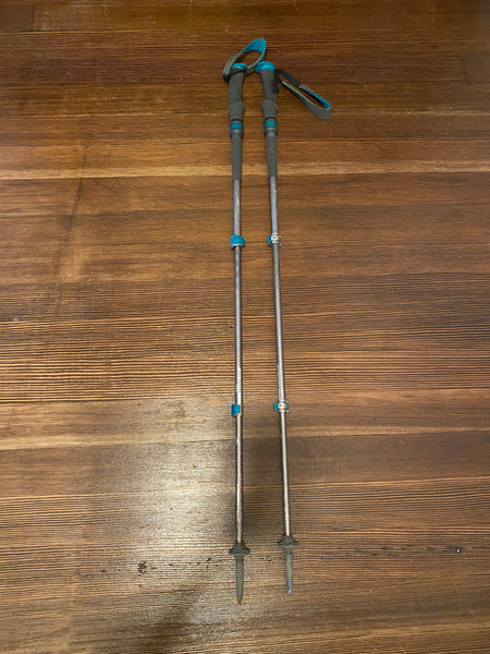 Black Diamond Trail pro shock trekking poles - Gray and teal, 100-125 CM