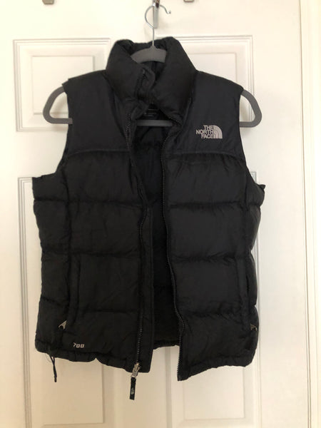 North Face 700 down vest - Black, size Small