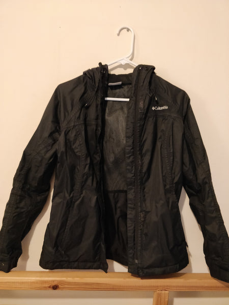 Columbia	Arcadia Rain Jacket - Black, size Small