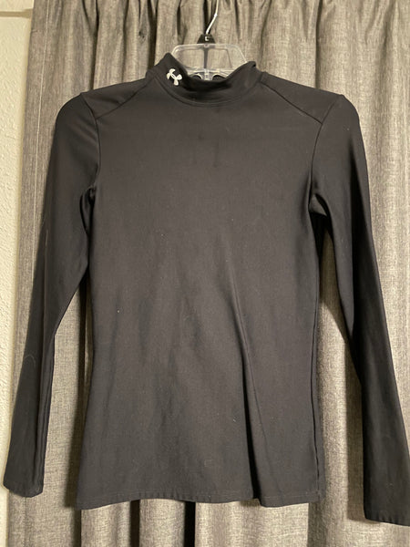 Under Armor Long Sleeve Compression Shirt - Black, size Small