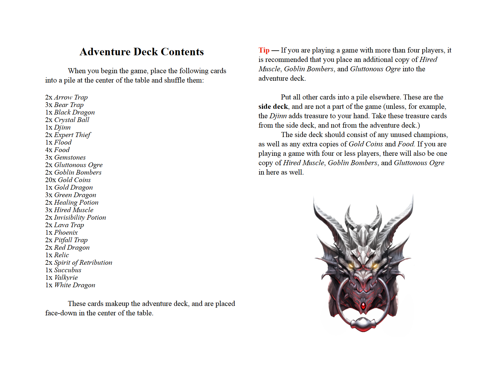 Dragonvault Rules Page 3