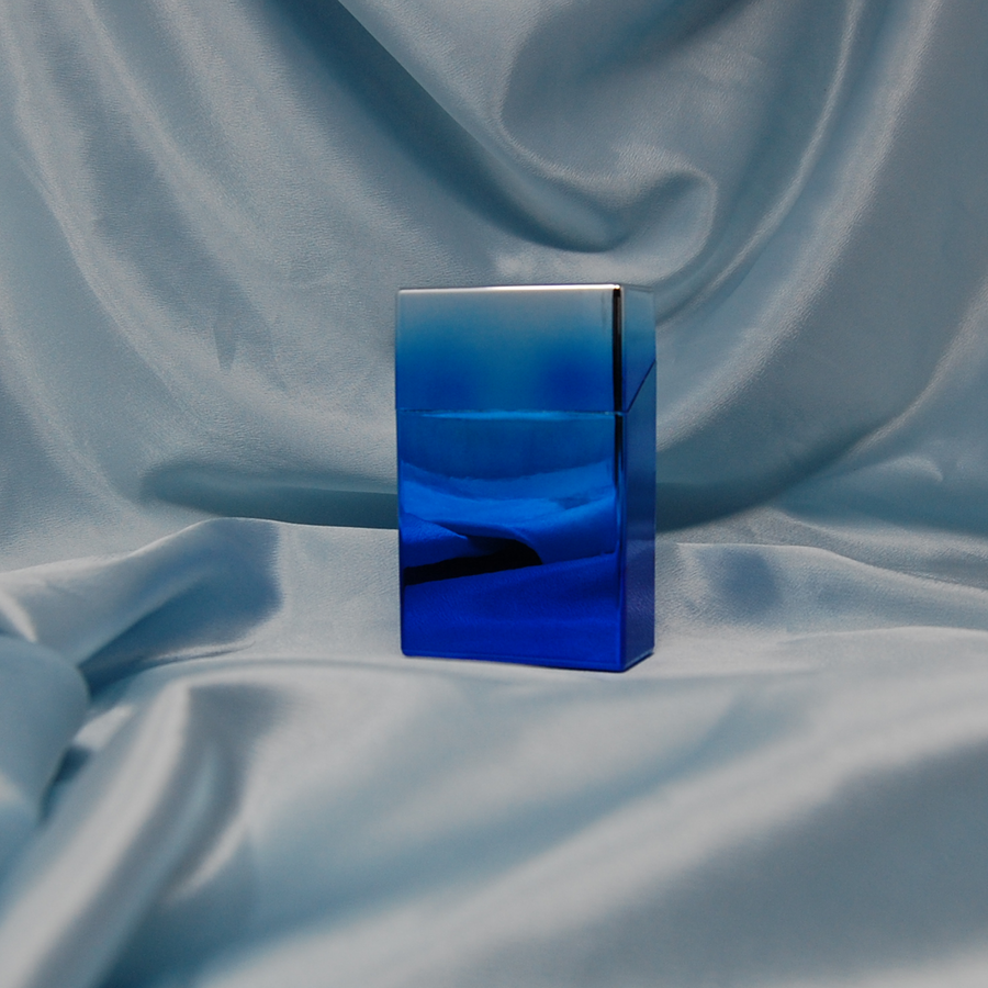 Cigarette Box- Blue/Silver gradient