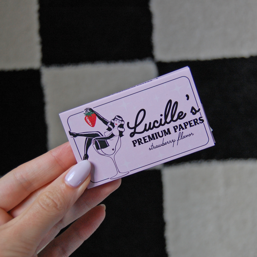 Lucille's Premium Rolling Papers- Strawberry Flavor