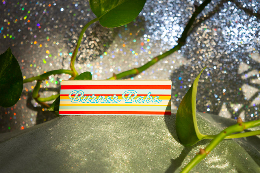 Burner Babe Rolling Papers- blue stripe