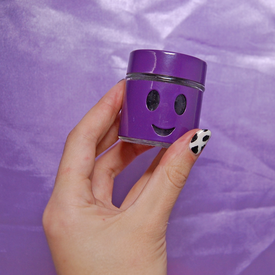 Smiley stash jar