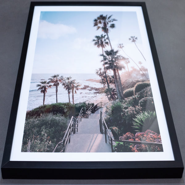 palms springs print with black timber frame