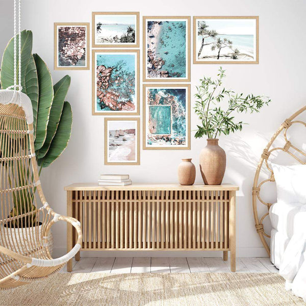 Coastal Gallery Art Print Set No.1 Photographic Wall Art Print or Poster By The Paper Tree.