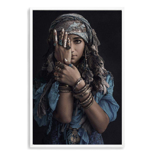 Moroccan Gypsy Photographic Wall Art Print or Poster By The Paper Tree.