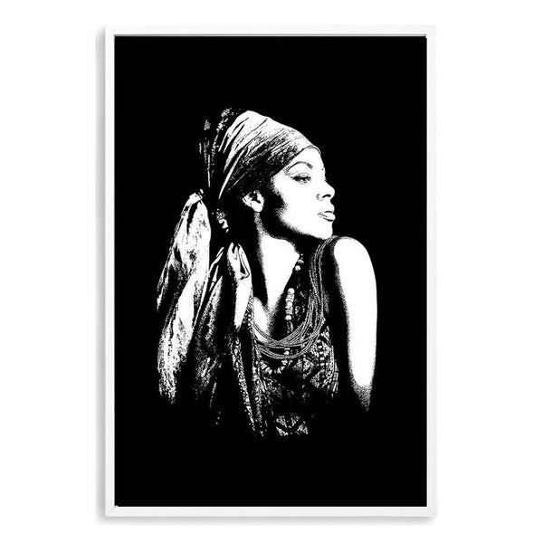 Boho Gypsy Silhouette Photographic Wall Art Print or Poster By The Paper Tree.