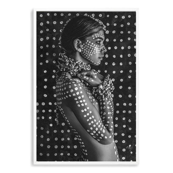 Boho Tribal Woman IIII Photographic Wall Art Print or Poster By The Paper Tree.