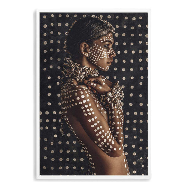 Boho Tribal Woman II Photographic Wall Art Print or Poster By The Paper Tree.