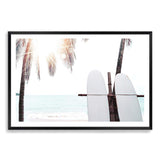 Surfers Sunset Photographic Wall Art Print or Poster By The Paper Tree.
