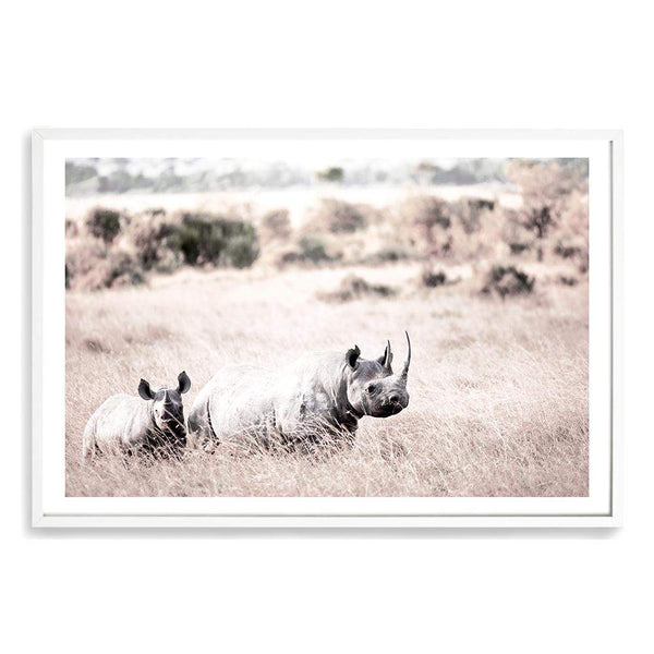 Rhinos Photographic Wall Art Print or Poster By The Paper Tree.