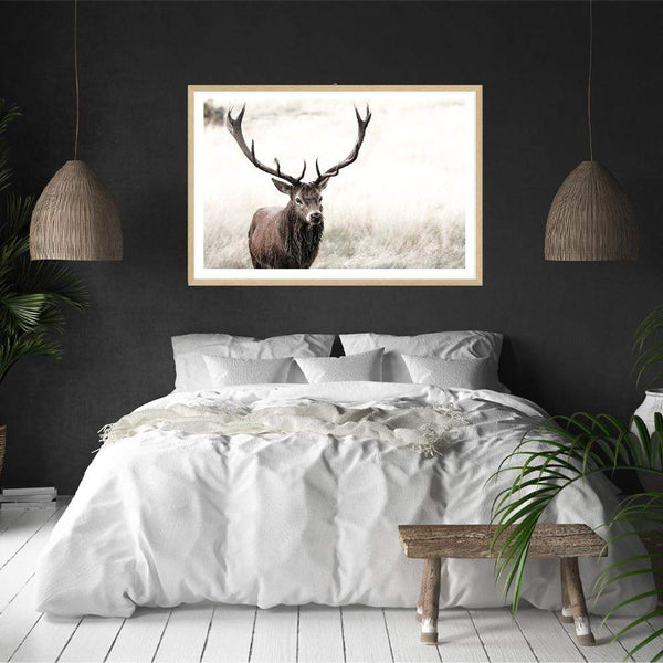 The Stag Photographic Wall Art Print or Poster By The Paper Tree.