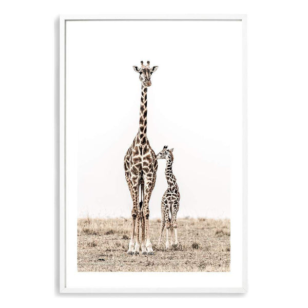 Giraffe Mother & Calf Art Print No.1