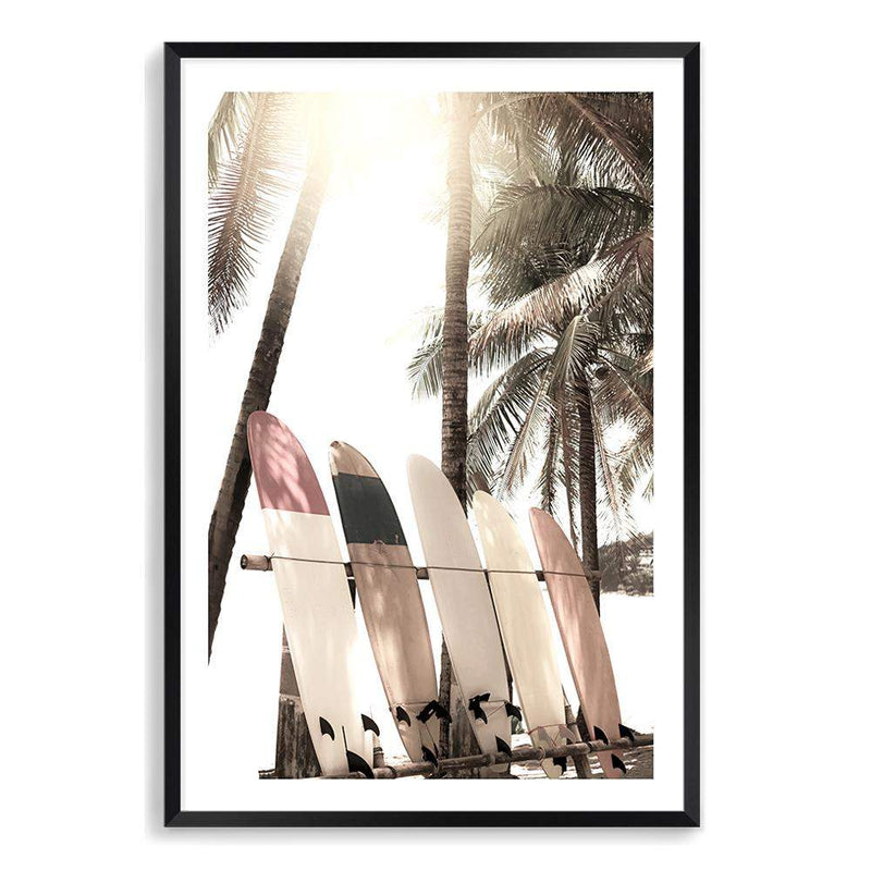 Surfers Sunset Art Print No.2