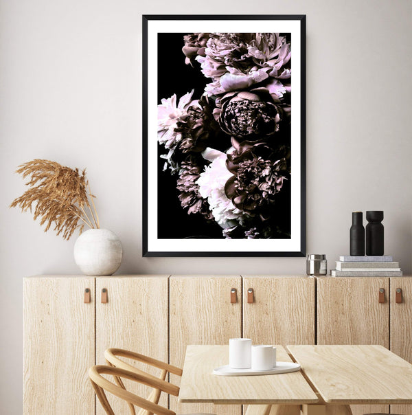 Shaded Florals Photographic Wall Art Print or Poster By The Paper Tree.
