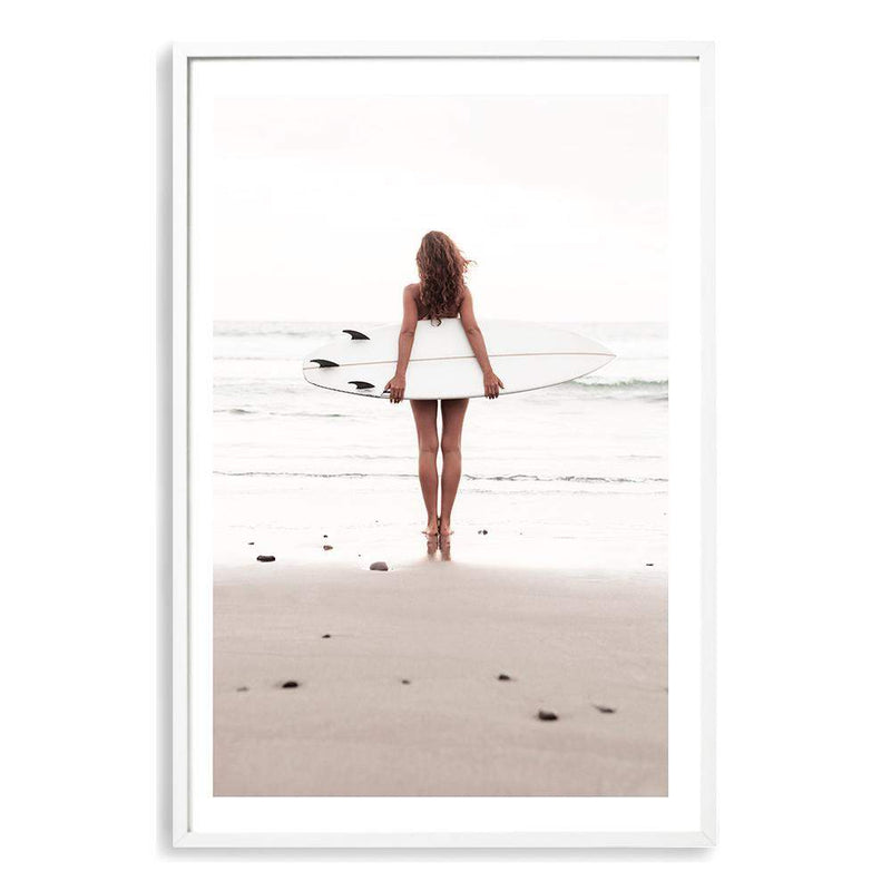 The Girl With The Surf Board Art Print No.1