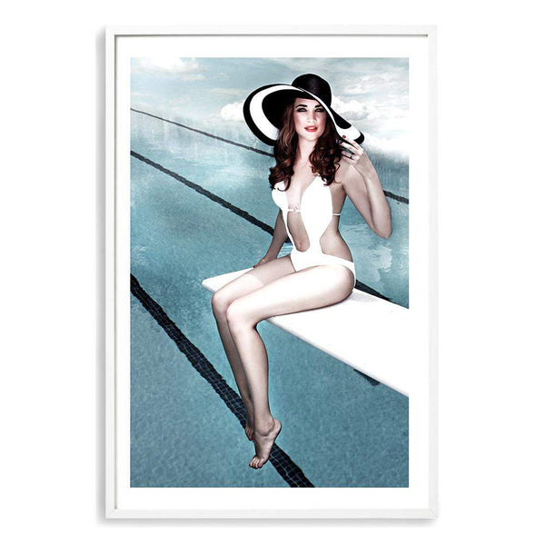 Pool Side Photographic Wall Art Print or Poster By The Paper Tree.