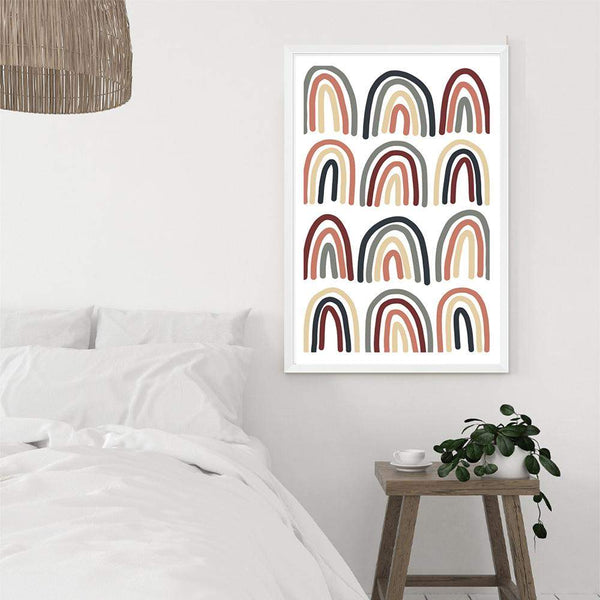 Neutral Rainbow Photographic Wall Art Print or Poster By The Paper Tree.