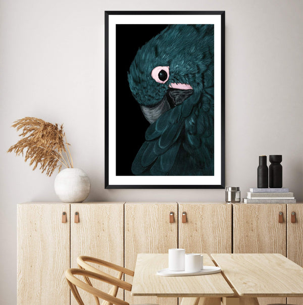 Painted Parrot Photographic Wall Art Print or Poster By The Paper Tree.