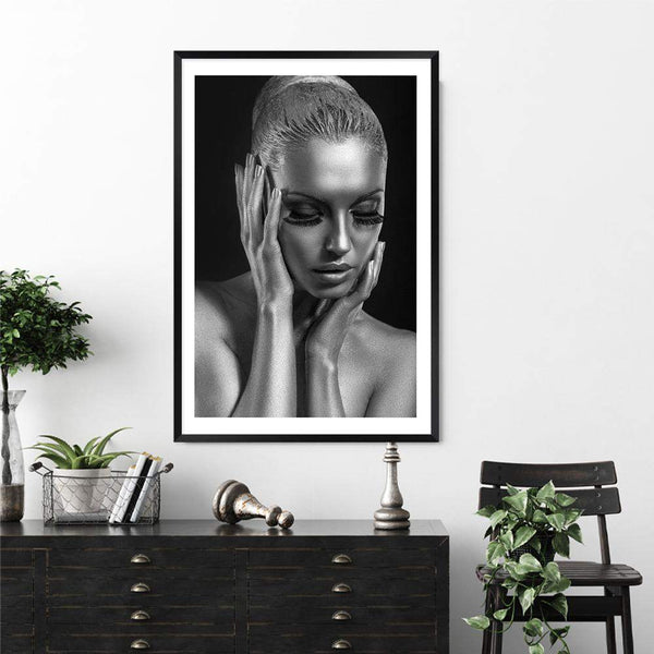 The Woman In Silver Photographic Wall Art Print or Poster By The Paper Tree.