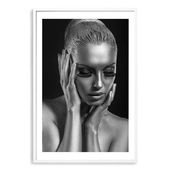 The Woman In Silver Art Print No.1