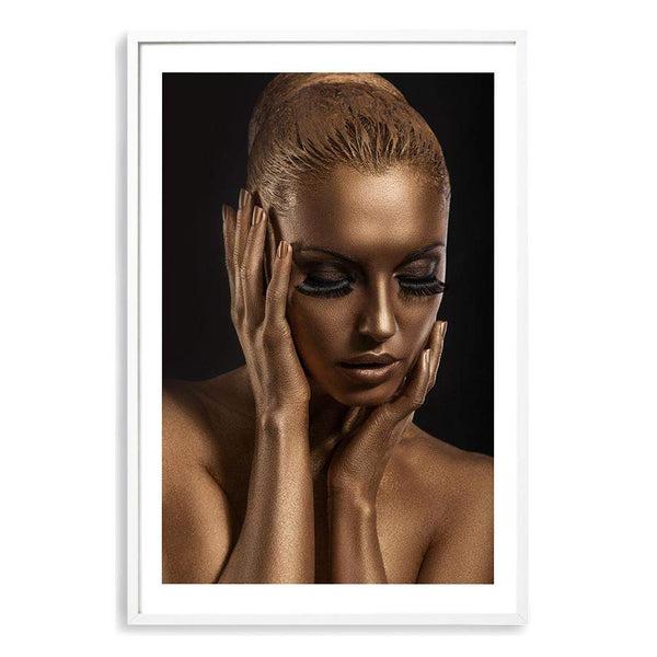 The Woman In Bronze Photographic Wall Art Print or Poster By The Paper Tree.