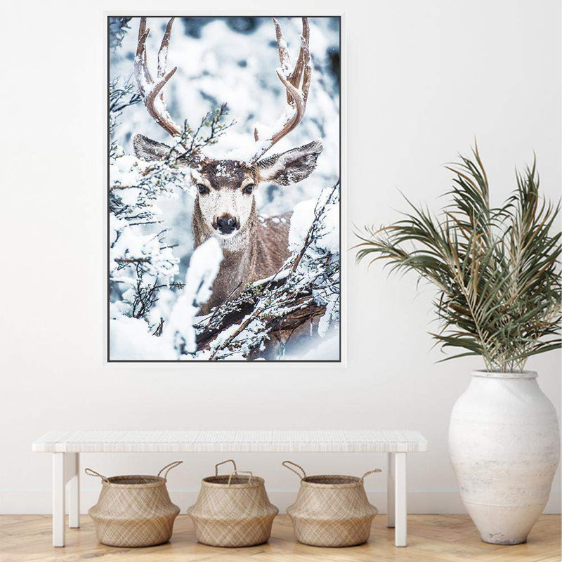 Deer In The Forest Canvas Art Print No.1