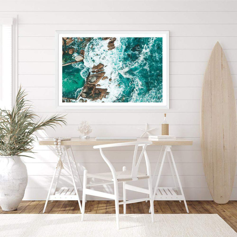 The Ocean Rock Pool Art Print No.2